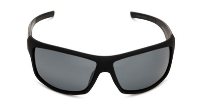 Front of Huntington Beach by Body Glove in Matte Black Frame with Smoke Mirrored Lenses