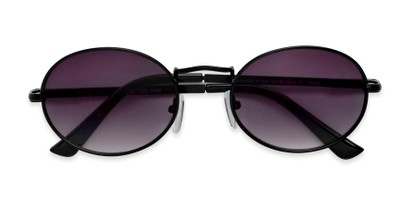 Folded of Karlie in Black Frame with Grey Gradient Lenses