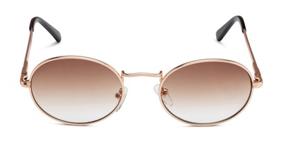 Front of Karlie in Gold Frame with Amber Gradient Lenses