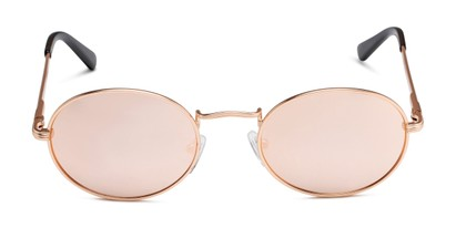Front of Karlie in Rose Gold Frame with Pink Mirrored Lenses