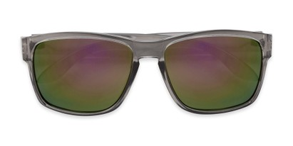 Folded of Ken in Translucent Grey Frame with Purple/Green Mirrored Lenses