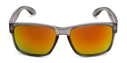 Front of Ken in Translucent Grey Frame with Red/Orange Mirrored Lenses