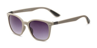 Angle of Landry in Grey Frame with Smoke Gradient Lenses, Women's and Men's Retro Square Sunglasses