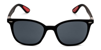 Front of Landry in Black/Red Frame with Smoke Lenses