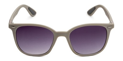 Front of Landry in Grey Frame with Smoke Gradient Lenses