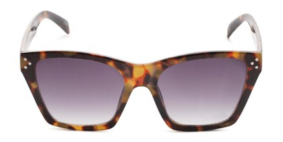 Front of Lucy in Dark Tortoise Frame with Grey Gradient Lenses