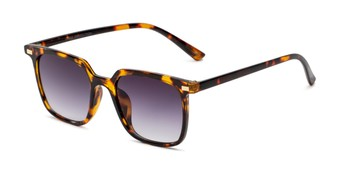 Angle of Manny in Tortoise Frame with Smoke Gradient Lenses, Women's and Men's Square Sunglasses