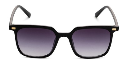 Front of Manny in Black Frame with Smoke Gradient Lenses