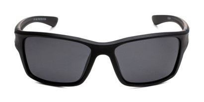 Front of Mitchell in Black/Blue Frame with Smoke Lenses