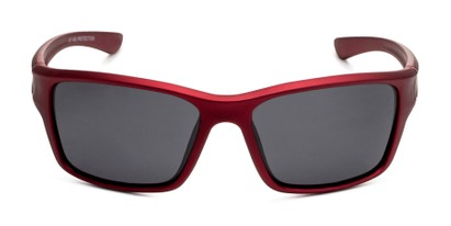 Front of Mitchell in Red/Silver Frame with Smoke Lenses