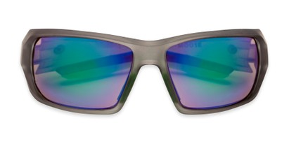 Folded of Moose by Scin in Matte Grey/Neon Green Frame with Green Mirrored Lenses