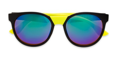 Folded of Peeper by Scin in Black/Neon Green Frame with Green Mirrored Lenses