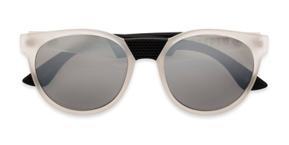 Folded of Peeper by Scin in Clear/Black Frame with Silver Mirrored Lenses