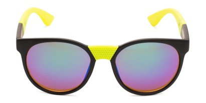 Front of Peeper by Scin in Black/Neon Green Frame with Green Mirrored Lenses