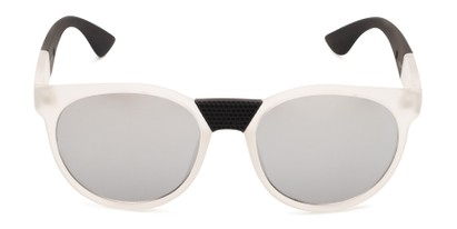 Front of Peeper by Scin in Clear/Black Frame with Silver Mirrored Lenses