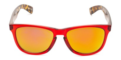 Front of Pixie Stick by Scin in Glossy Red/Tortoise Frame with Red Mirrored Lenses