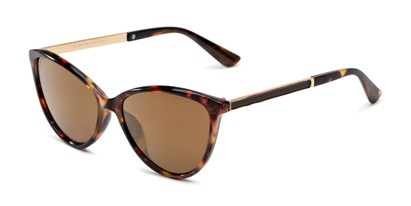 Angle of Polly in Tortoise Frame with Amber Lenses, Women's Cat Eye Sunglasses