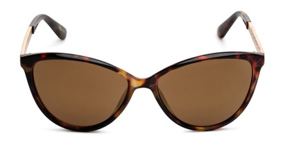 Front of Polly in Tortoise Frame with Amber Lenses