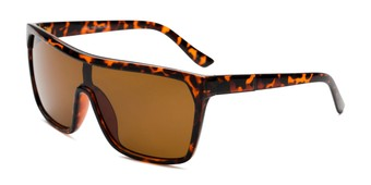 Angle of Ryland in Glossy Tortoise Frame with Amber Lenses, Women's and Men's Square Sunglasses