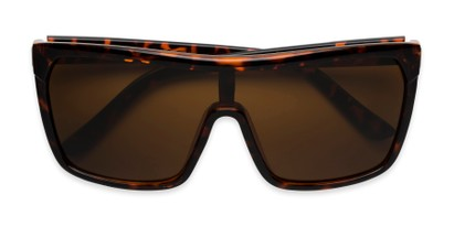 Folded of Ryland in Glossy Tortoise Frame with Amber Lenses