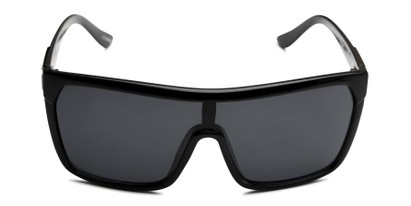 Front of Ryland in Glossy Black Frame with Smoke Lenses