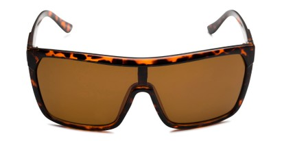 Front of Ryland in Glossy Tortoise Frame with Amber Lenses