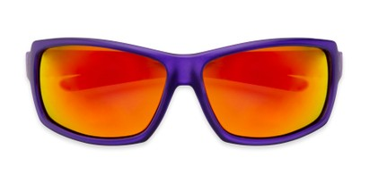 Folded of Skyler by Scin in Purple Frame with Red Mirrored Lenses