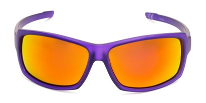 Front of Skyler by Scin in Purple Frame with Red Mirrored Lenses