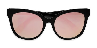 Folded of Tatum in Black Frame with Pink Lenses