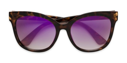 Folded of Tatum in Tortoise Frame with Purple Lenses