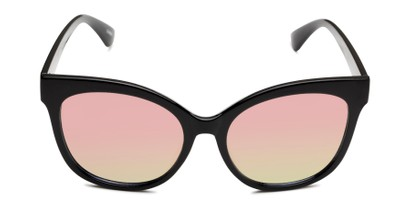 Front of Tatum in Black Frame with Pink Lenses