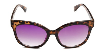 Front of Tatum in Tortoise Frame with Purple Lenses