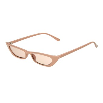 Angle of Only Shade by Foster Grant in Tan Frame with Amber Lenses, Women's Cat Eye Sunglasses