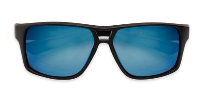 Folded of Tingo by Scin in Matte Black Frame with Blue Mirrored Lenses