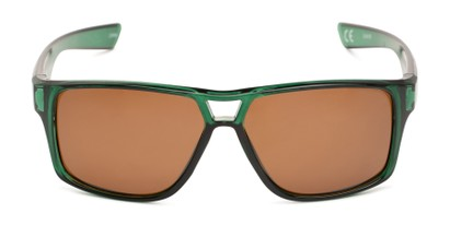 Front of Tingo by Scin in Glossy Green Frame with Brown Mirrored Lenses