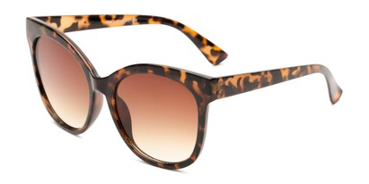 Angle of Valerie in Tortoise Frame with Amber Gradient Lenses, Women's Cat Eye Sunglasses