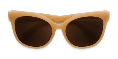 Folded of Valerie in Tan Frame with Amber Lenses