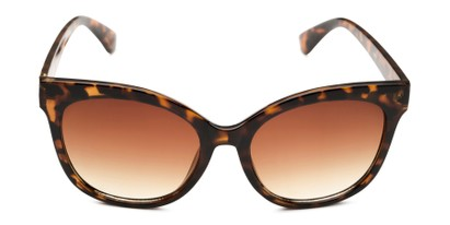 Front of Valerie in Tortoise Frame with Amber Gradient Lenses