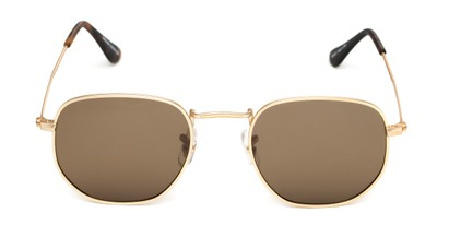Front of Dylan #2022 in Matte Gold Frame with Amber Lenses