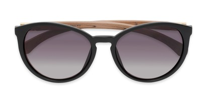 Folded of Sabine #3215 in Black/Tan Frame with Smoke Lenses