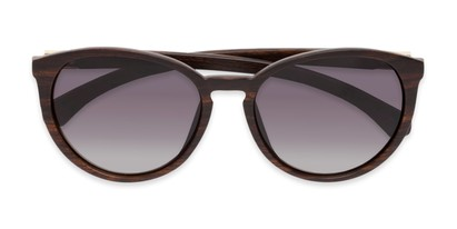 Folded of Sabine #3215 in Dark Brown Frame with Smoke Lenses