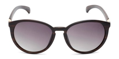 Front of Sabine #3215 in Dark Brown Frame with Smoke Lenses