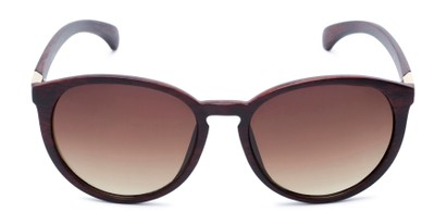 Front of Sabine #3215 in Brown Frame with Amber Lenses