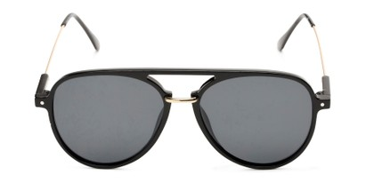 Front of Salem #3344 in Black/Gold Frame with Smoke Lenses