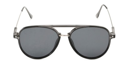 Front of Salem #3344 in Grey/Silver Frame with Smoke Lenses