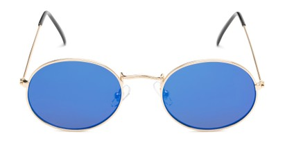 Front of Sammy #5145 in Gold Frame with Blue Mirrored Lenses