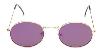 Front of Sammy #5145 in Gold Frame with Purple Mirrored Lenses