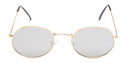 Front of Sammy #5145 in Gold Frame with Silver Mirrored Lenses