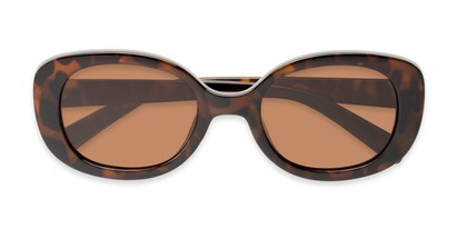 Folded of Santa Clara #41626 in Tortoise Frame with Amber Lenses