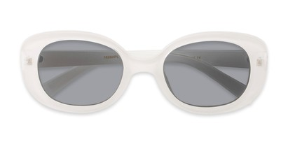 Folded of Santa Clara #41626 in White/Clear Frame with Smoke Lenses